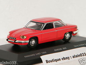 【送料無料】模型車 モデルカー スポーツカー panhard 24 bt 1964 red odeon for momaco 143 ref 004