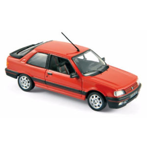 【送料無料】模型車 モデルカー スポーツカー プジョーpeugeot 309 gti 1987 red 143 473908 norev