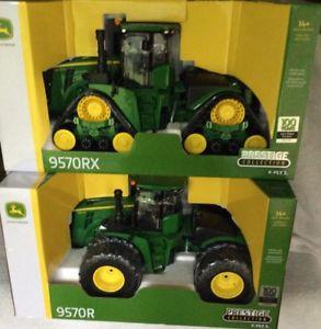 【送料無料】模型車 モデルカー スポーツカー ジョンディアトターjohn deere 9570r amp; 9570rx 100 year building tractors both are green in 116 ertl