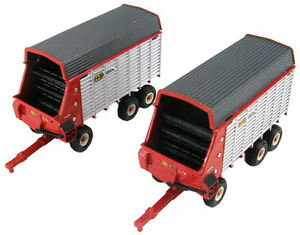 【送料無料】模型車 モデルカー スポーツカー ツインオーガワゴン164 ertl hamp;s extra capacity twin auger forage wagon set