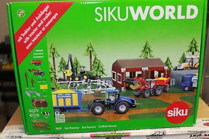 【送料無料】模型車 モデルカー スポーツカー トタートレーラーsiku 5601 world set farmer mit traktor und anhnger 150 neu mit ovp