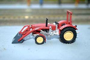 【送料無料】模型車 モデルカー スポーツカー モデルトターフロントエンドローダーnpe modellbau 187 na99056 traktor schlter s 650, rot, mit frontlader