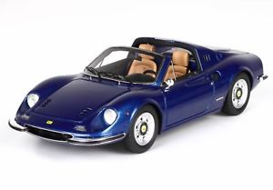 【送料無料】模型車 モデルカー スポーツカー フェラーリディノferrari dino 246 gts blue metallizzato 143 bbrc54g bbr