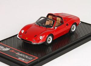 【送料無料】模型車 モデルカー スポーツカー ディーノフェラーリレッドdino ferrari 246 gts red bbr bbrc54a 143