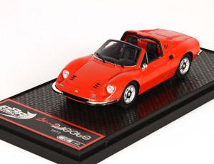 【送料無料】模型車 モデルカー スポーツカー ディーノフェラーリロッソディノdino ferrari 246 gts rosso dino bbr bbrc54e 143
