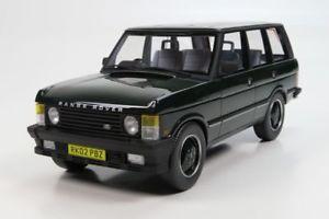 【送料無料】模型車 モデルカー スポーツカー ランドローバーレンジローバーハンドルダークグリーンモデルカーグッズland rover range rover rhd 1986 dunkelgrn, modellauto 118 ls collectibles