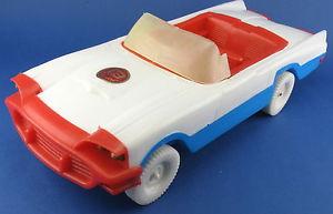 【送料無料】模型車 モデルカー スポーツカー フォードサンダーバードプラスチックviebroflex ford thunderbird 1959 mit friktion 30 cm auto plastic car