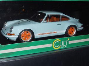 【送料無料】模型車 モデルカー スポーツカー カルトスケールモデルポルシェオレンジcult scale models porsche 911 964 singer gulfblauorange resin 118
