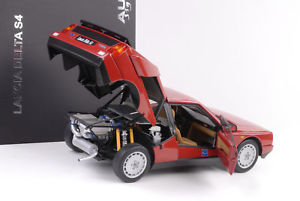 【送料無料】模型車 モデルカー スポーツカー ランチアデルタメタリックレッドlancia delta 1985 s4 street rotmetallic 118 autoart