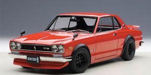 【送料無料】模型車 モデルカー スポーツカー スカイラインバージョンレッドautoart nissan skyline gtr kpgc10 tuned version rot 118 77444