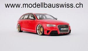 【送料無料】模型車 モデルカー スポーツカー アウディチューニングaudi rs4 b8 avant rot 118 1zu18 118 selten tuning umbau rar