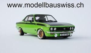 【送料無料】模型車 モデルカー スポーツカー オペルマンタグリーンブラックチューニングopel manta gte 1975 grn schwarz 1zu18 118 tuning