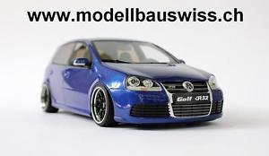 【送料無料】模型車 モデルカー スポーツカー ゴルフチューニングリムモデルスイスvw golf 5 r32 blau 1zu18 118 118 tuning umbau alu felgen wwwmodellbauswissch