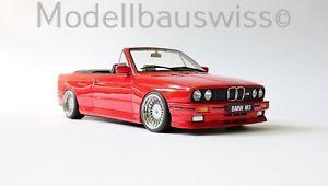 【送料無料】模型車 モデルカー スポーツカー カブリオレレッドチューニングbmw m3 e30 cabriolet rot 118 1zu18 118 selten umbau tuning rar