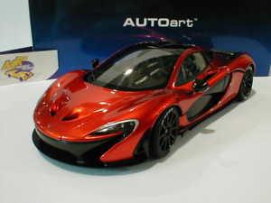 【送料無料】模型車 モデルカー スポーツカー マクラーレンオレンジスポーツカーautoart 76025 mclaren p1 sportwagen baujahr 2013 volcano orange 118 neu