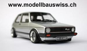 【送料無料】模型車 モデルカー スポーツカー ゴルフウサギシルバークラシックチューニングvw golf 1 gti rabbit silber 118 118 1zu18 raritt tuning umbau classic