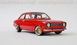 【送料無料】模型車 モデルカー スポーツカー レッドフォードエスコートチューニングford escort 1 lhd 1968 rot 118 1zu18 tuning