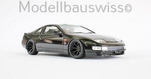 【送料無料】模型車 モデルカー スポーツカー ブラックチューニングモデルスイスアルミホイールnissan 300zx z32 schwarz 118 1zu18 118 umbau alufelgen tuning modellbauswiss