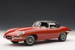 【送料無料】模型車 モデルカー スポーツカー ジャガータイプロードスターシリーズautoart 73601 118 jaguar etype roadster series i 38 1961 red neu