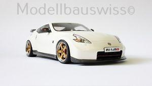 【送料無料】模型車 モデルカー スポーツカー ニスモホワイトチューニングnissan 370z nismo weiss 1zu18 118 tuning exklusiv