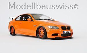 【送料無料】模型車 モデルカー スポーツカー オレンジチューニングモデルスイスbmw m3 e92 gts orange 118 tuning 1zu18 umabu unikat wwwmodellbauswissch
