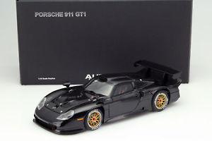 【送料無料】模型車 モデルカー スポーツカー ポルシェプレーンボディバージョンporsche 911 gt1 plain body version baujahr 1997 schwarz 118 autoart