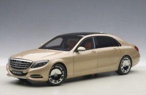 【送料無料】模型車 モデルカー スポーツカー クラスメルセデスマイバッハゴールドモデルカーmercedes maybach sklasse s600 swb 2015 gold, modellauto 118 autoart