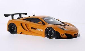 【送料無料】模型車 モデルカー スポーツカー マクラーレングアテマラメタリックオレンジハンドルmclaren mp412c gt3, metallicorange, rhd, 118, autoart