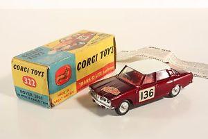 【送料無料】模型車 モデルカー スポーツカー コーギーモンテカルロトリムローバーボックスミントcorgi toys 322, rover 2000 in montecarlo trim, mint in box      ab2084