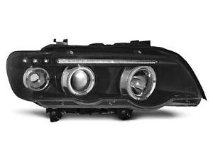 【送料無料】模型車 モデルカー スポーツカー ランプneu scheinwerfer fr bmw x5 e53 1999 2003 angel eyes schwarz sv lpbm43er xino