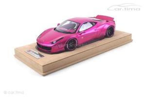 【送料無料】模型車 モデルカー スポーツカー リバティーウォークフラッシュピンクリバティーウォークボポンドliberty walk 458 flash pink 1 of 50 liberty walk 118 bolb05