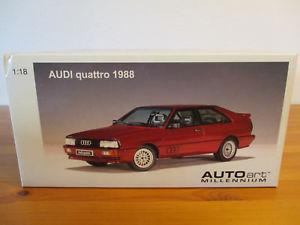 【送料無料】模型車 モデルカー スポーツカー アウディクワトロ gor 118 autoart audi quattro 1988 neu ovp