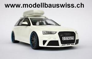 【送料無料】模型車 モデルカー スポーツカー アウディホワイトチューニングaudi rs4 avant b8 weiss 118 1zu18 118 selten tuning umbau rar