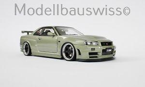 【送料無料】模型車 モデルカー スポーツカー スカイラインミレニアムジェイドnissan nismo skyline r34 gtr ztune millennium jade 1zu18 118 raritt umbau