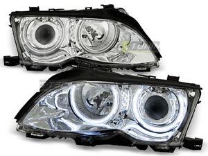 【送料無料】模型車 モデルカー スポーツカー ヌオーヴォシリーズイーグルnuovo fanali anteriori bmw e46 serie 3 2001 2005 angel eyes cromo eagle eyes