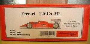 【送料無料】模型車 モデルカー スポーツカー フェラーリフルメタルキットmfh ferrari 126c4m2, 1984, 120 full detail metal kit