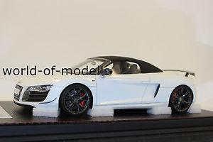 【送料無料】模型車 モデルカー スポーツカー フロントアウディスパイダーホワイトエディションfrontiart f03602 audi r8 st spyder wei exclusive auflage 118 neu mit ovp
