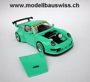 【送料無料】模型車 モデルカー スポーツカー ソフトウェアライセンスポルシェモデルスイスチューニングporsche rwb 993 118 1zu18 118 selten tuning umbau rar unikat modellbauswiss