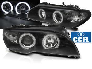 【送料無料】模型車 モデルカー スポーツカー ヌオーヴォシリーズクーペカブリオレnuovo fanali anteriori bmw e46 serie 3 2003 coup cabrio angel eyes ccfl neri