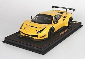 2015 giallo 118 【送料無料】模型車 フェラーリモデナferrari p18123gm bbr modena モデルカー スポーツカー gte 488