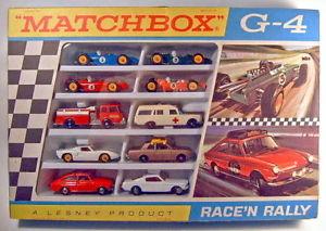 【送料無料】模型車 モデルカー スポーツカー マッチレースラリーセットmatchbox giftset g4 racenrally set 1968