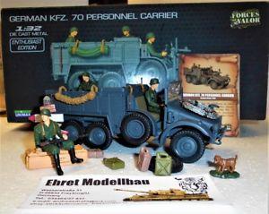 【送料無料】模型車 モデルカー スポーツカー ドイツwwii german kfz 70 3 figuren 132 forces of valor 80080 neu