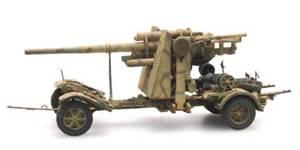 【送料無料】模型車 モデルカー スポーツカー カムフラージュartitec 6870071 187 h0 wwii dt 8,8cm flak 18 tarnung neu