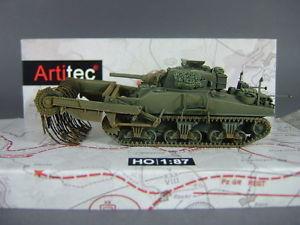 【送料無料】模型車 モデルカー スポーツカー シャーマンタンクモデルクリアartitec 387117 usuk sherman m4a4 flail mine clearing tank fertigmodell neu