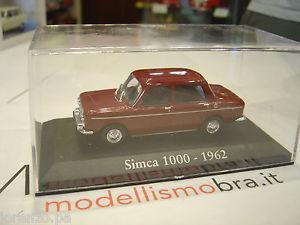【送料無料】模型車 モデルカー スポーツカー ロッソダークレッドsimca 1000 rosso scuro dark red 1962 143 rba ci09