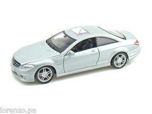 【送料無料】模型車 モデルカー スポーツカー メルセデスベンツシルバーmercedes benz cl63 amg silver 124 maisto 31297