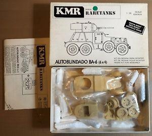 【送料無料】模型車 モデルカー スポーツカー ダドータンクレジンキットkmr t014 autoblindado ba6 raretanks 135 resin kit