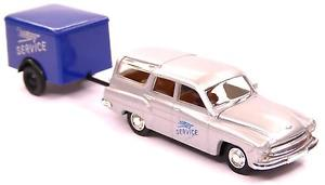 【送料無料】模型車 モデルカー スポーツカー キャンピングトレーラーサービス#h0 brekina personenkraftwagen wartburg 311 camping anhnger service ddr 27114