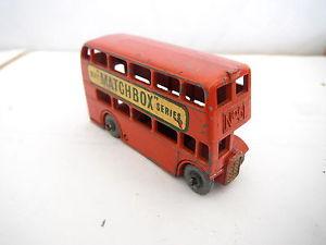 【送料無料】模型車 モデルカー スポーツカー マッチロンドンバスダイカストオリジナルmatchbox lesney no 5 london bus diecast original 57mm 1957