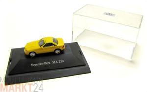 【送料無料】模型車 モデルカー スポーツカー メルセデススケールモデルベンツmercedes benz mb slk 230 in gelb automodell im mastab 187 ovp